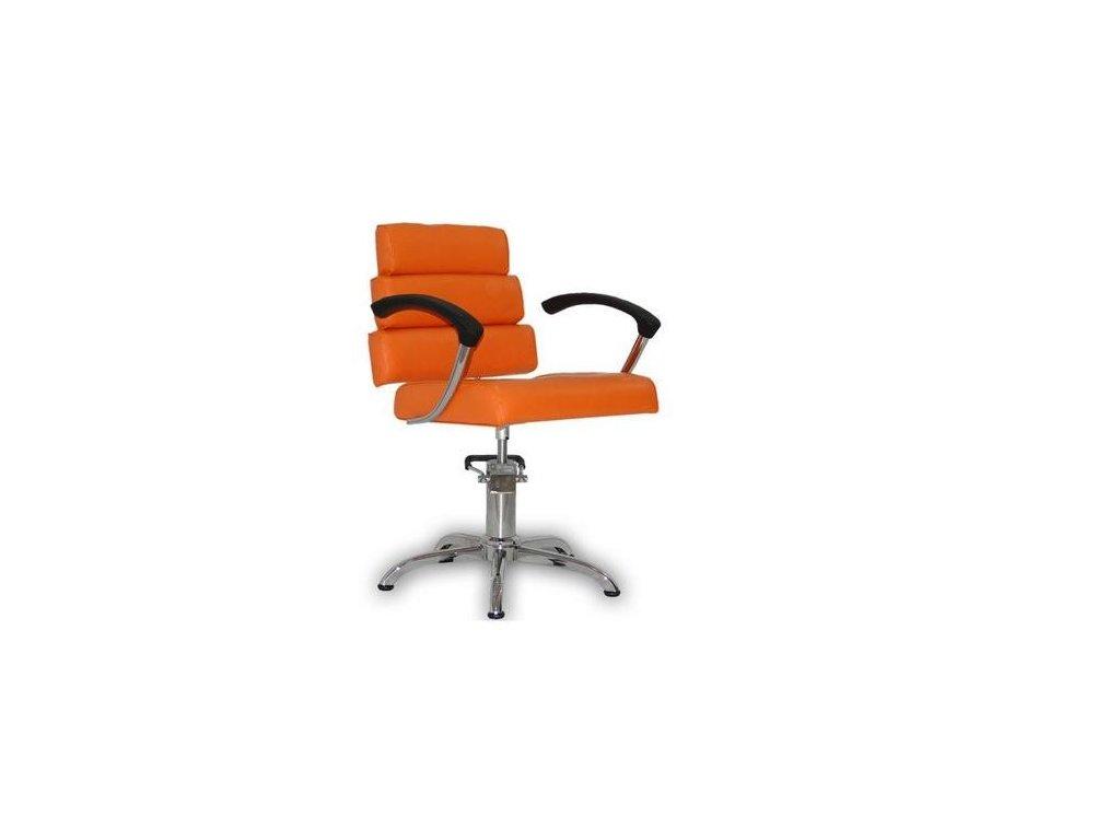 Kadeřnické křeslo Italpro - oranžové