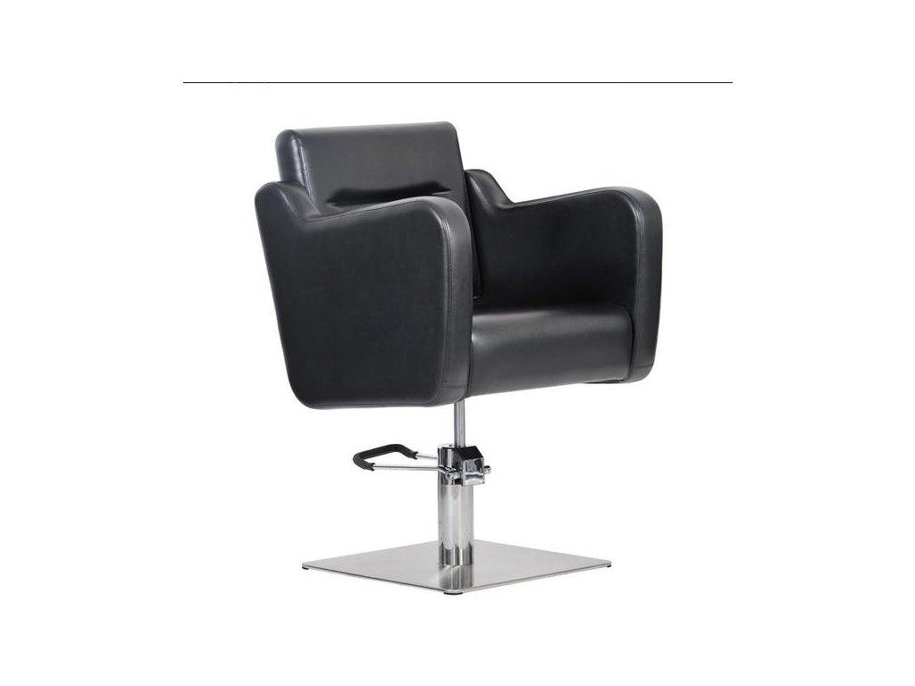 Kadeřnické křeslo - Lux - černé