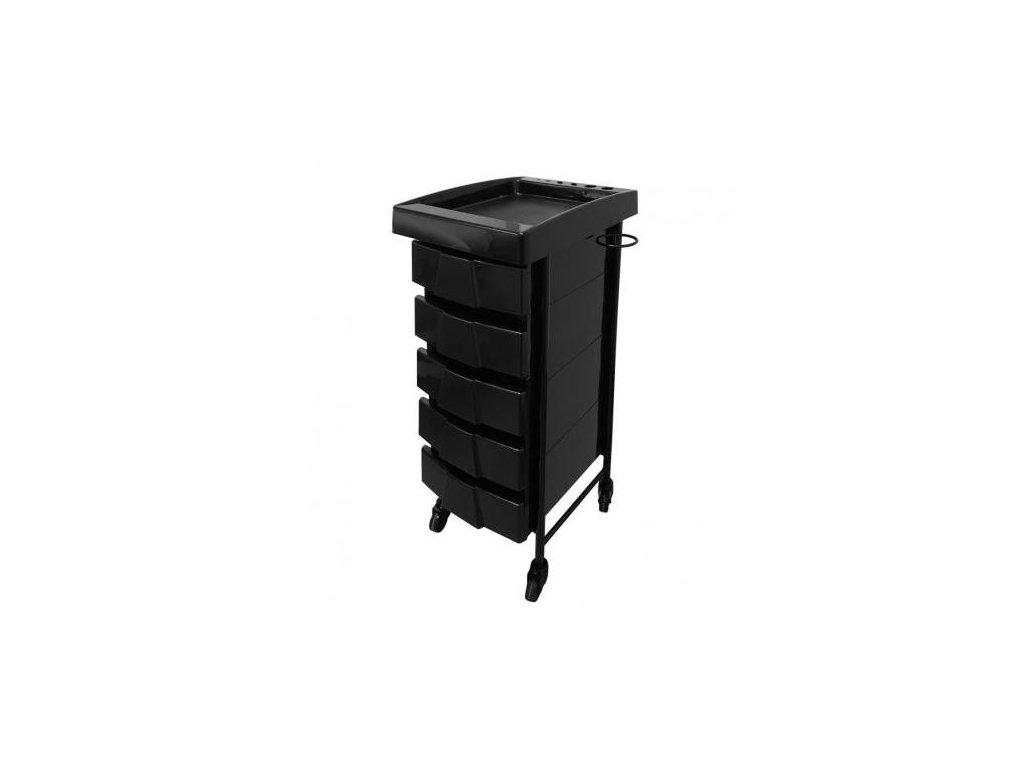 Kadeřnický stolek Deluxe černý