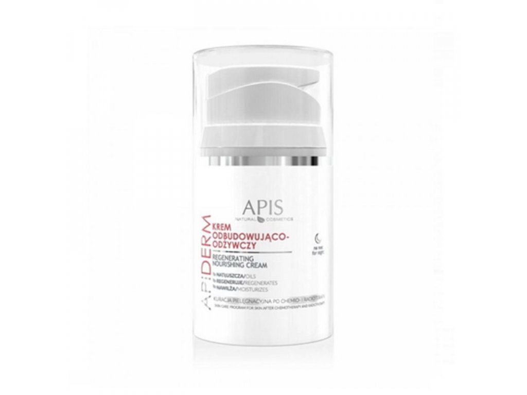 APIS APIDERM Obnovující a výživný noční krém po chemoterapii a radioterapii 50ml
