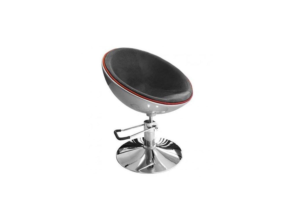 Kadeřnická židle stříbrná