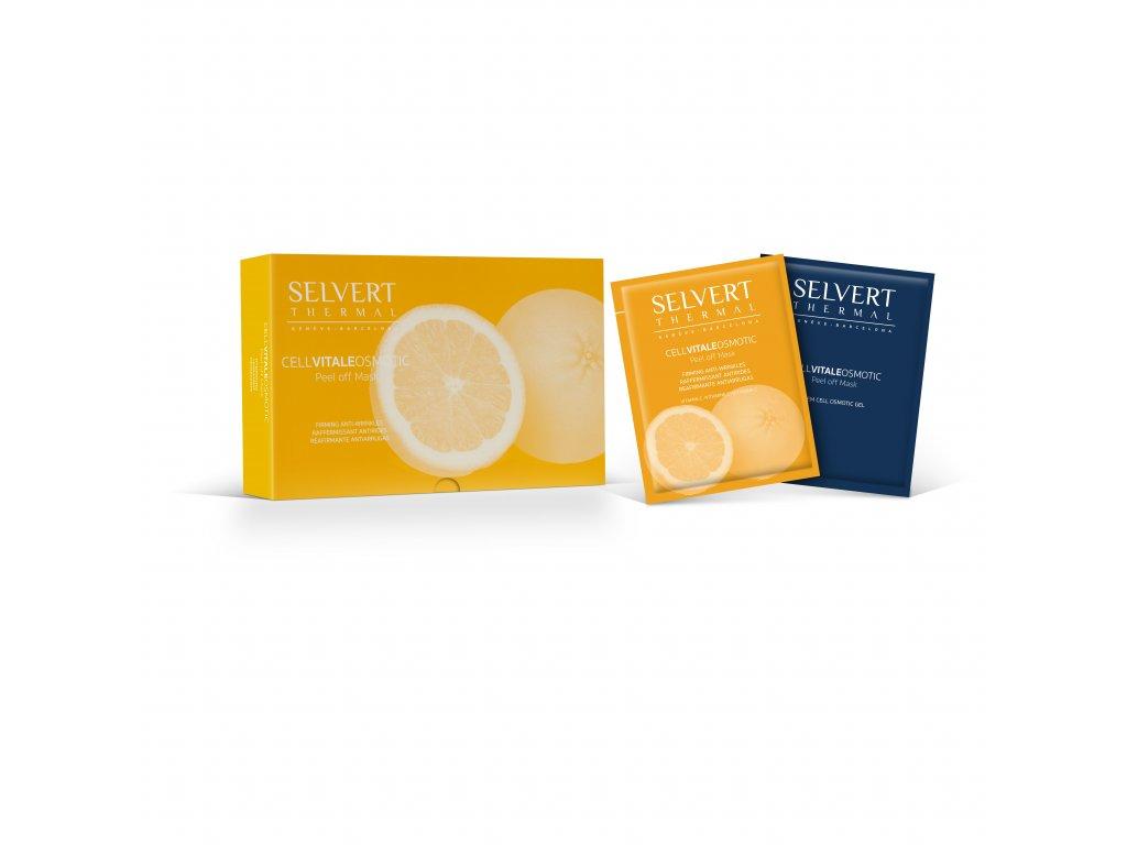 Osmotická maska zpevňující (oranžová) - Cell Vitale Osmotic Peel Off Mask Firming Anti- Wrinkle