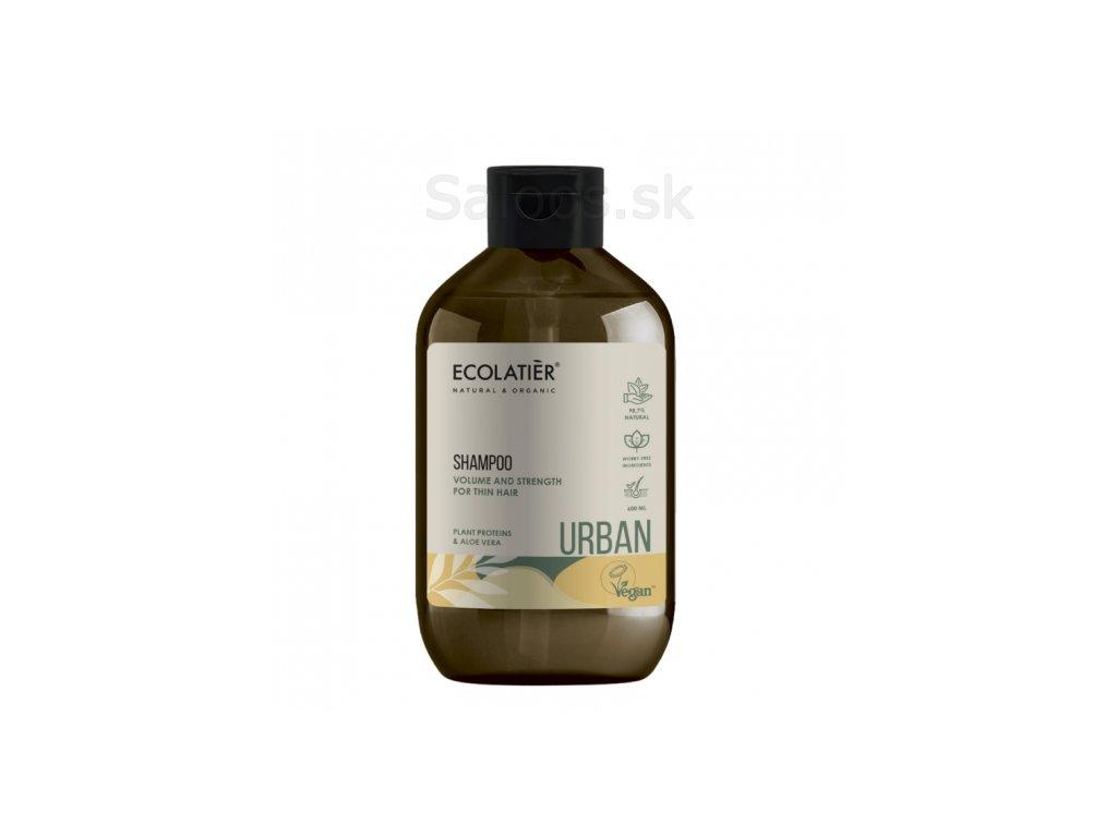 ecolatier sampunas apimciai ploniems plaukams augaliniai proteinai ir alavijas 600 ml