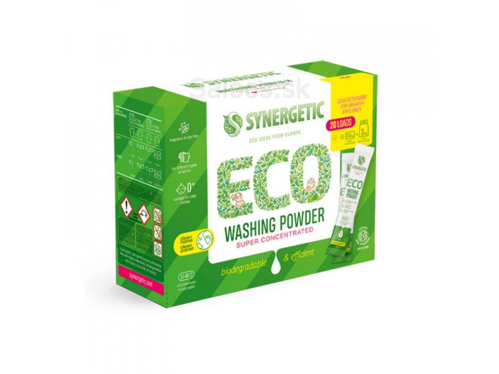 synergetic koncentruoti skalbimo milteliai biologiskai skaidomi 20 x 25 g