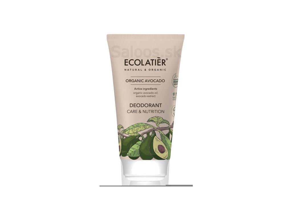 organic avocado desodorante care nutrition 40 ml 1 g