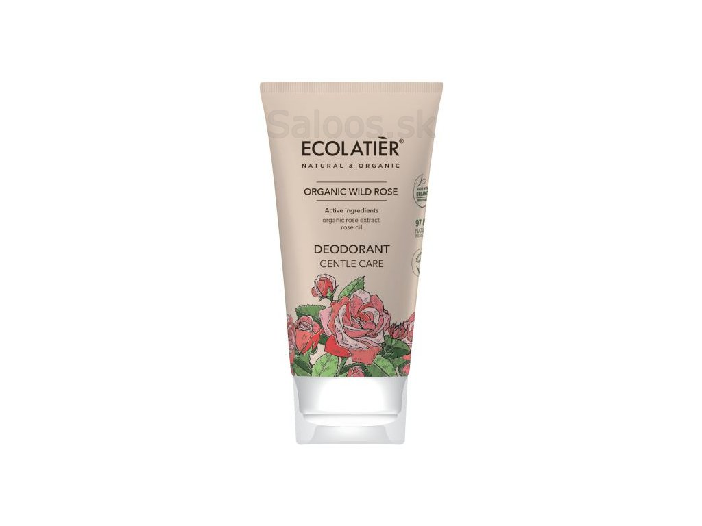 organic wild rose desodorante gentle care 40 ml 1 g