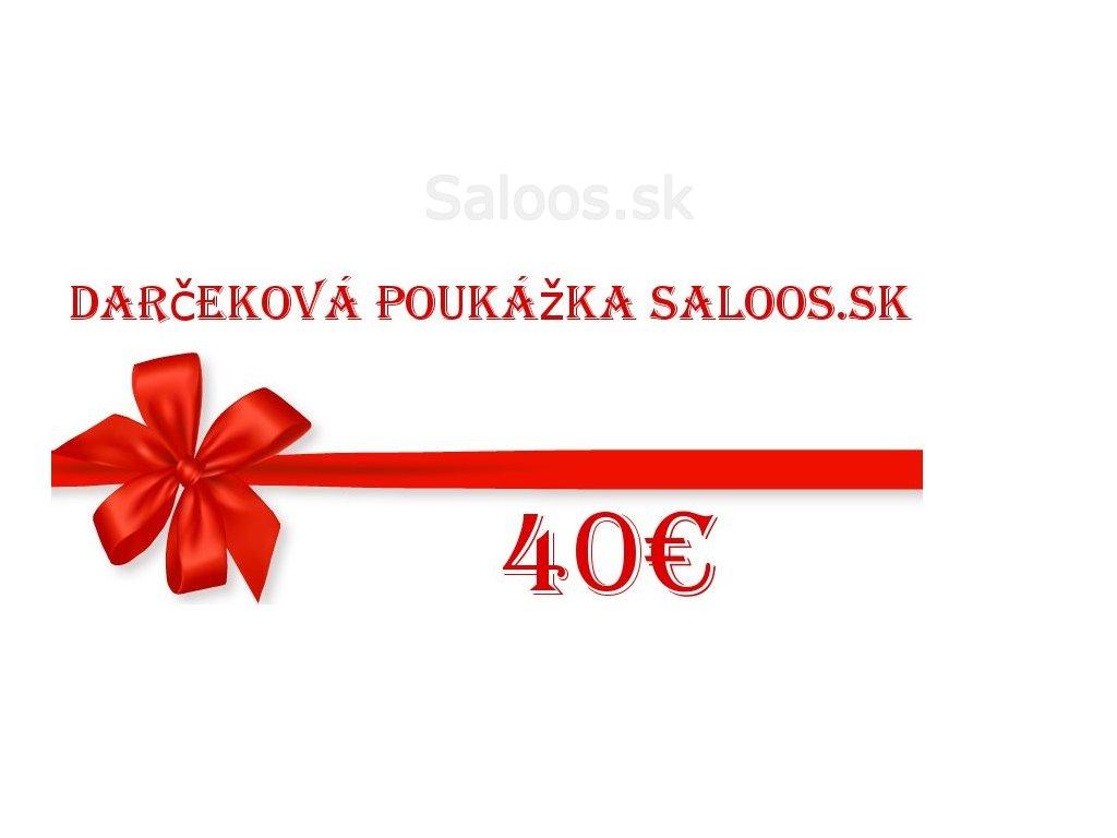 Darčeková poukážka v hodnote 40 Eur