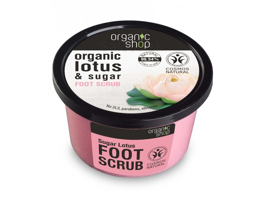 1717 organic shop foot scrub sugar lotus
