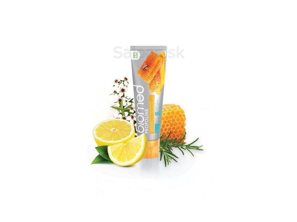 biomed propoline zubni pasta s prirodnim medovym esencialnim olejem 100 g z1