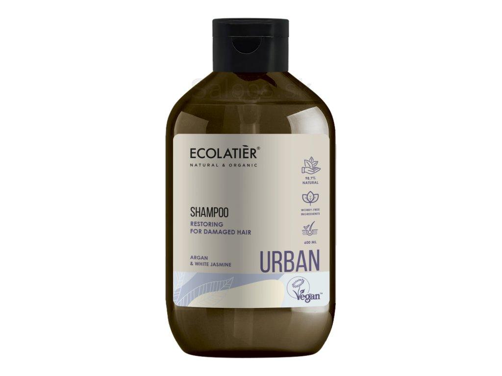 Ecolatiér Urban -Obnovujúci šampón na vlasy s arganovým olejom 600 ml