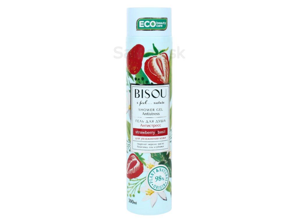 BISOU - Antistresový sprchový gél s jahodami 300 ml