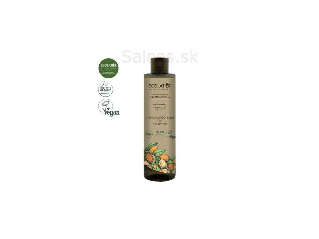 ARGAN Szampon balsam do wlosow 2w1 350 ml ECOLATI