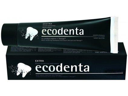 Ecodenta - Čierna zubná pasta Ecodenta s bieliacim účinkom 100 ml