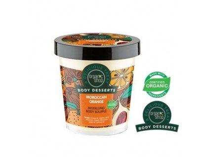 eng pl Organic Shop Body Desserts Body shaping SOUFFLE MOROCCAN ORANGE orange oil argan oil 450ml 4744183012141 25721 1