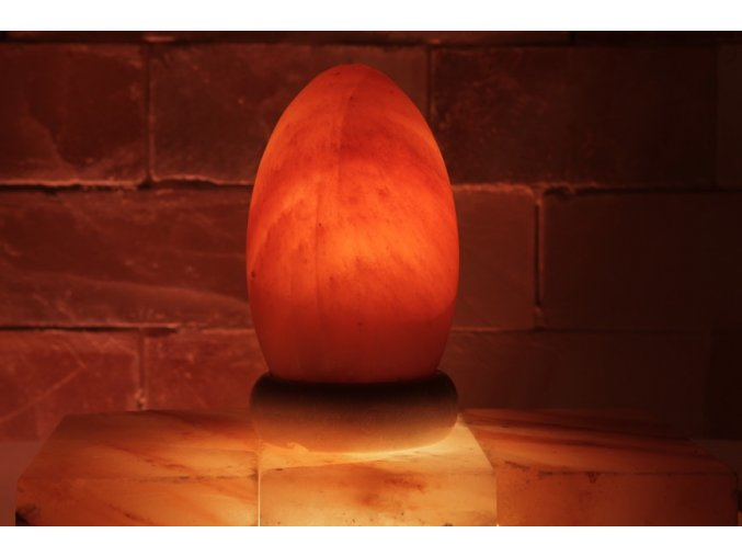 Solná elektrická lampa Vejce