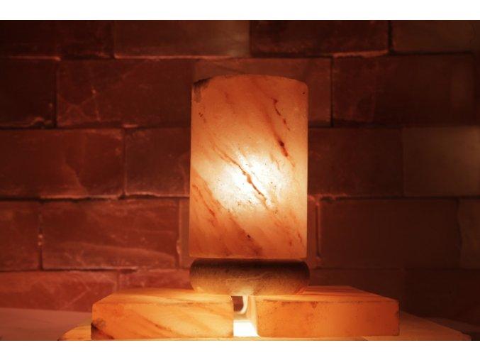 Solná elektrická lampa Cylindr