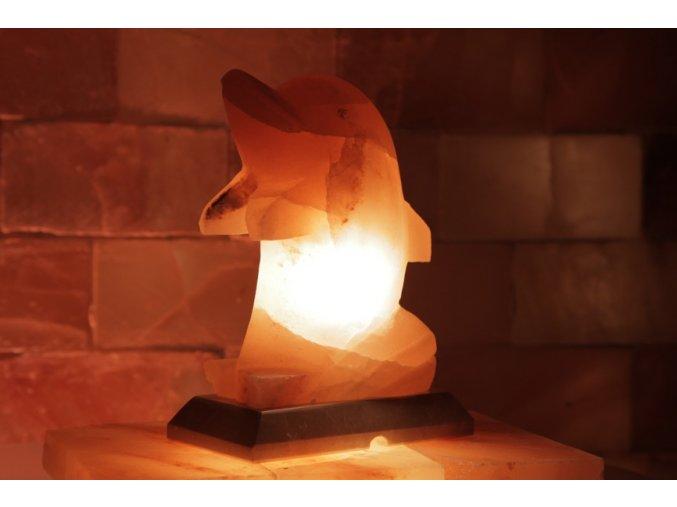Solná elektrická lampa Delfín