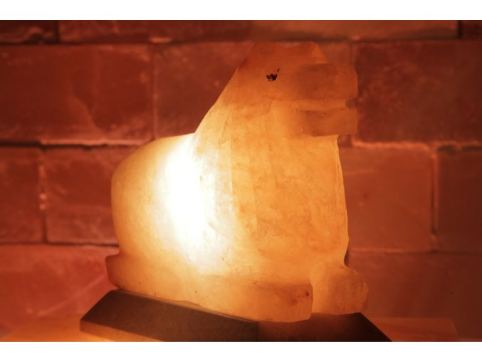 Solná elektrická lampa Lev