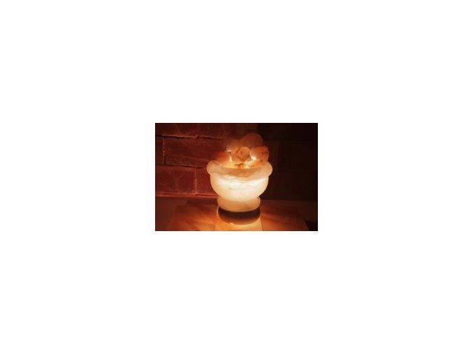 Solná elektrická lampa Ohnivá nádoba