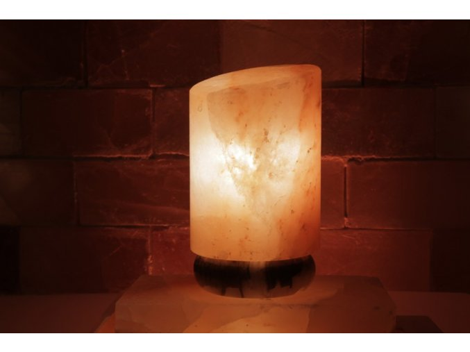 Solná elektrická lampa Seříznutý cylindr