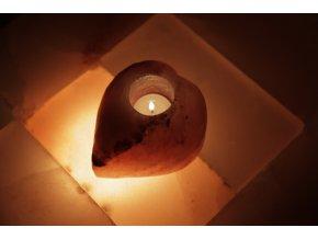 Solný svícen Vybroušené srdce