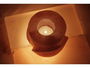 Solný broušený svícen - Kulatý