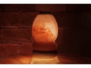 Solná aroma lampa s dřevěnou miskou