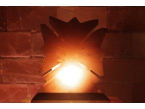 Solná elektrická lampa Javorový list
