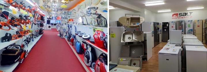 Salt Elektro Lipany - kosačky, krovinorezy, píly, vysávače, chladničky a drezy na predajni