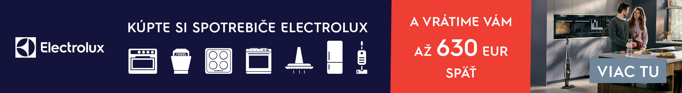 Cashback na vstavané spotrebiče Electrolux