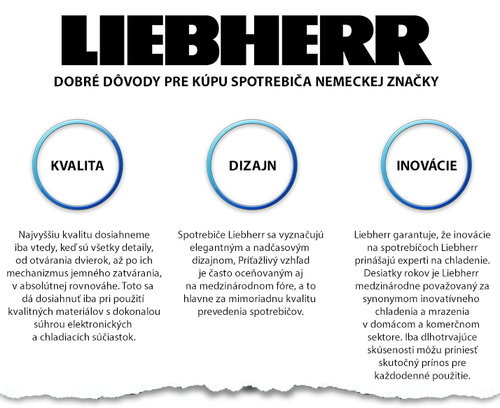 Liebherr - výhody