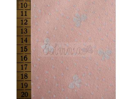 moraviatex biobavlna růžová mašličky2