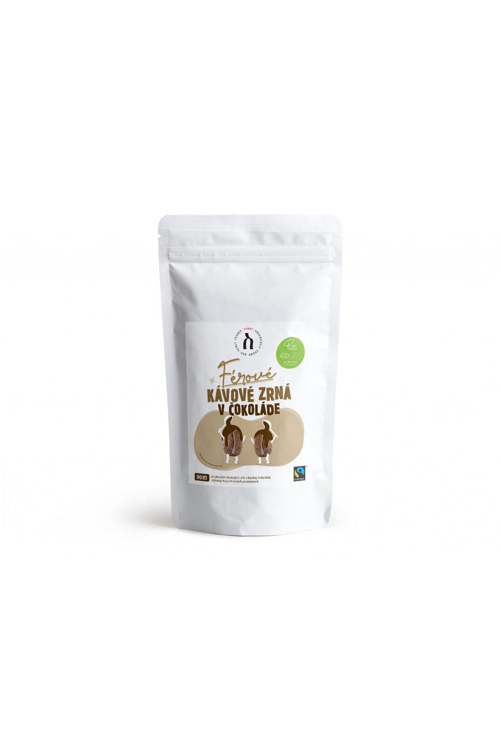 SAMAY Kavove zrna v cokolade Fairtrade BIO 80g