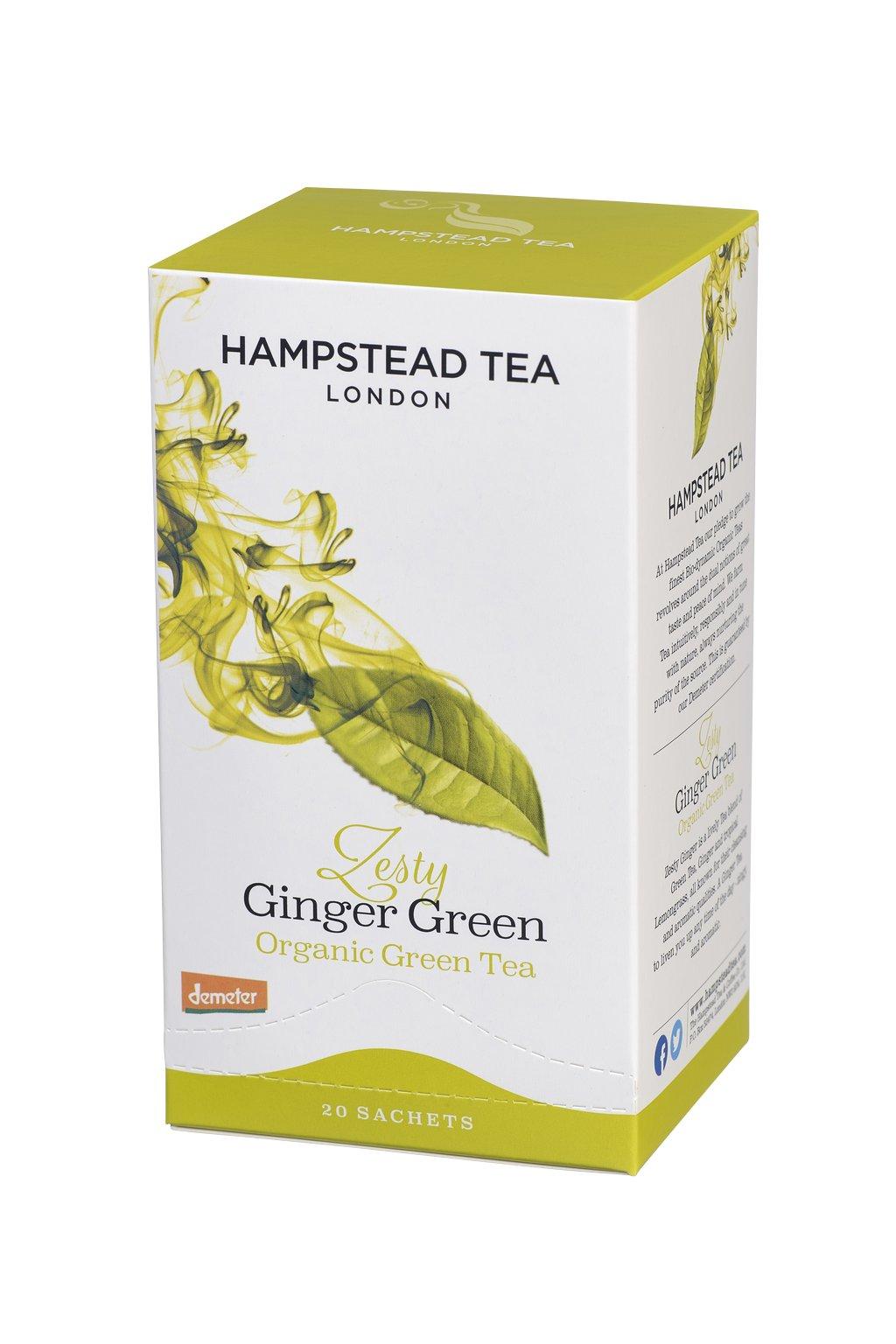 Organic Demeter Ginger Green Tea Bags