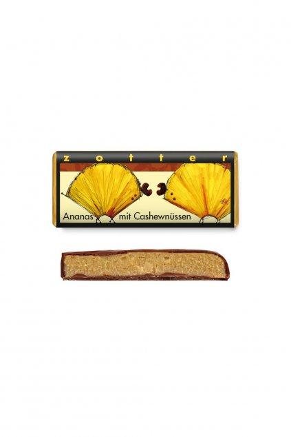 Zotter BIO cokolada Handscooped Kesu nugat a ananas 1