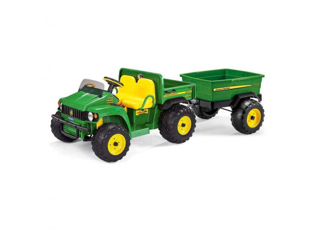 Elektrické vozidlo PegPerego John Deere Gator HPX 12V zelená + vlečka