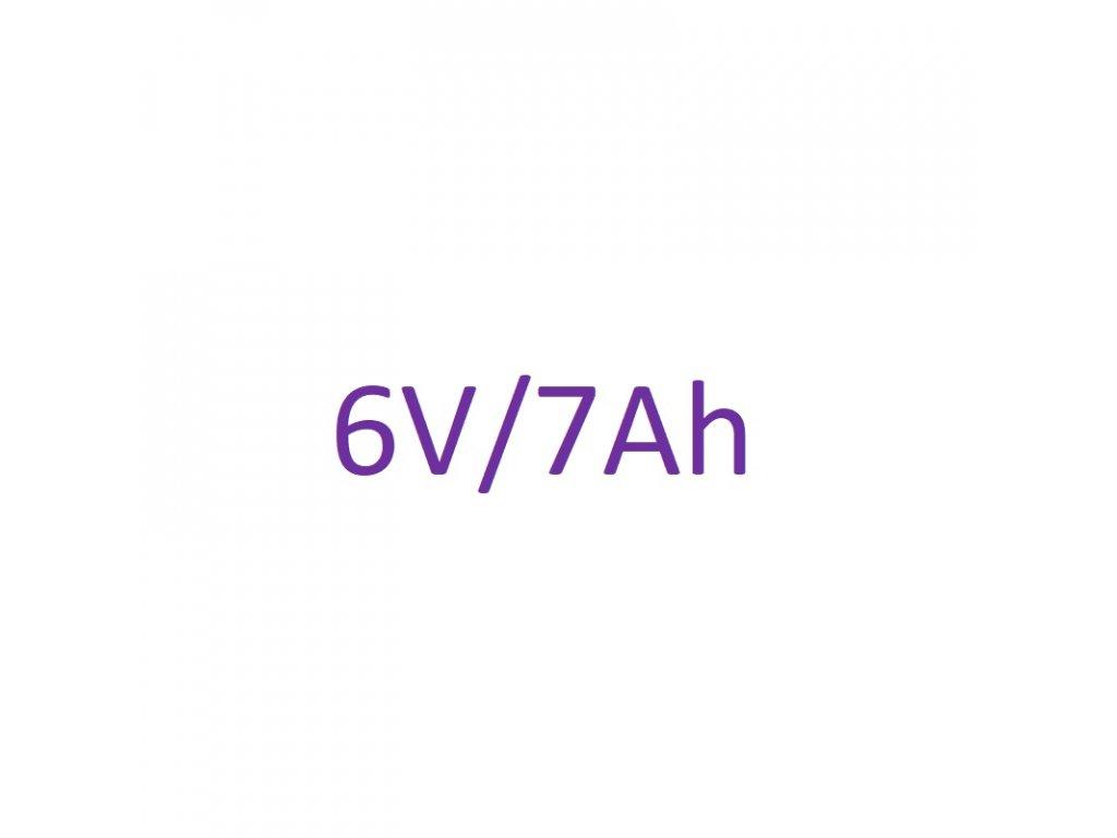 Náhradné batériové články 6V 7Ah