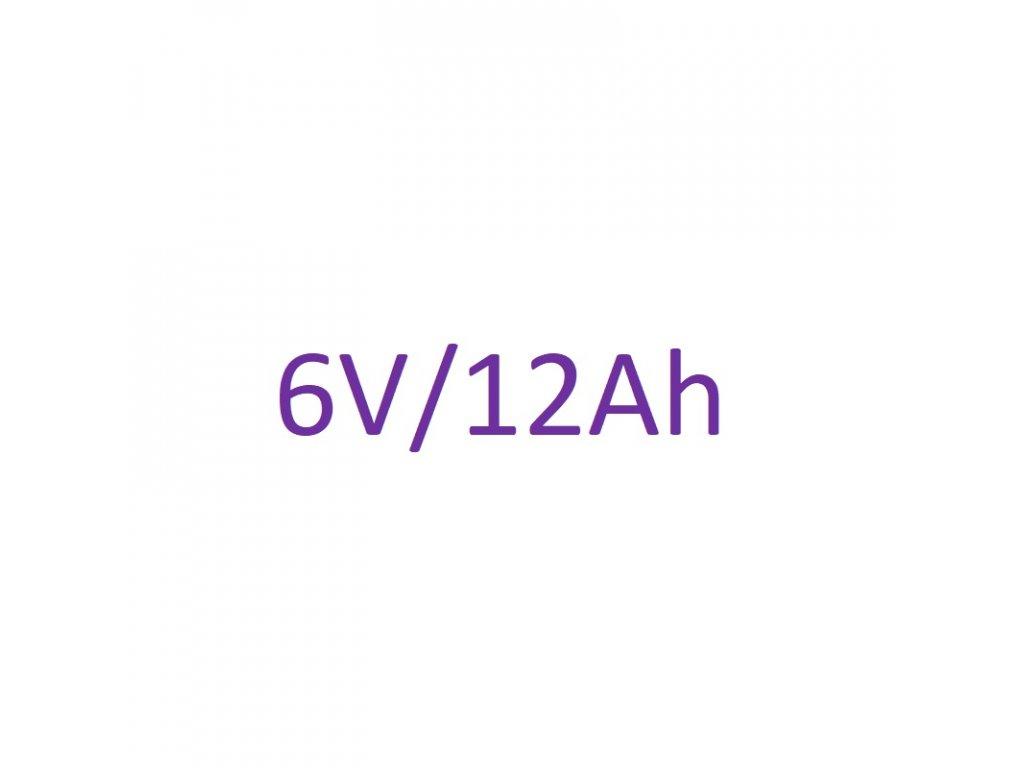 Náhradné batériové články 6V 12Ah