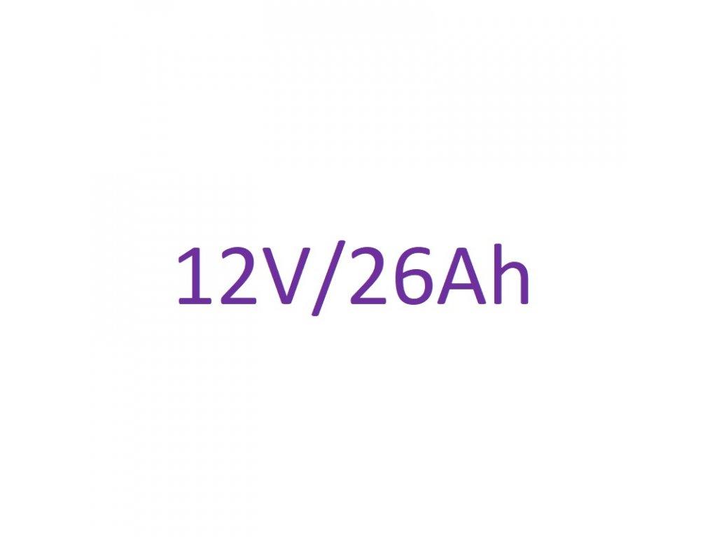 Náhradné batériové články 12V 26Ah