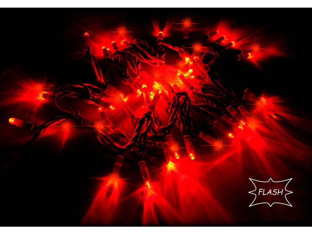 String Lite Flash červená/červený kábel 12m 180LED(3x60) 230V 15W