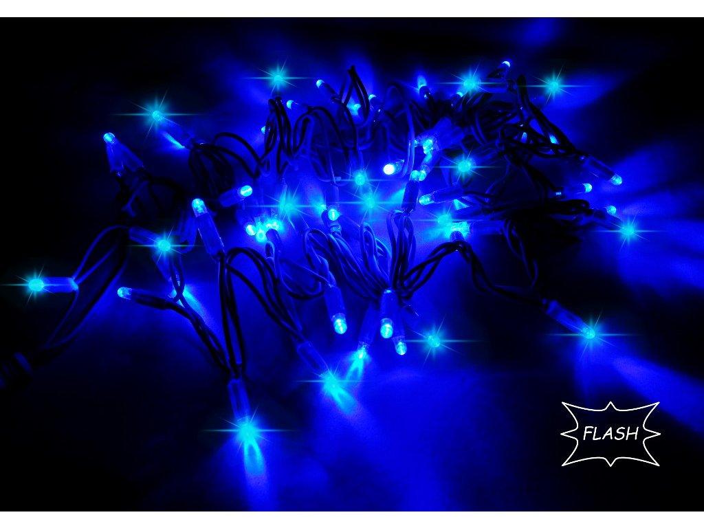 String Lite Flash modrá/modrý kábel 12m 180LED(3x60) 230V 15W