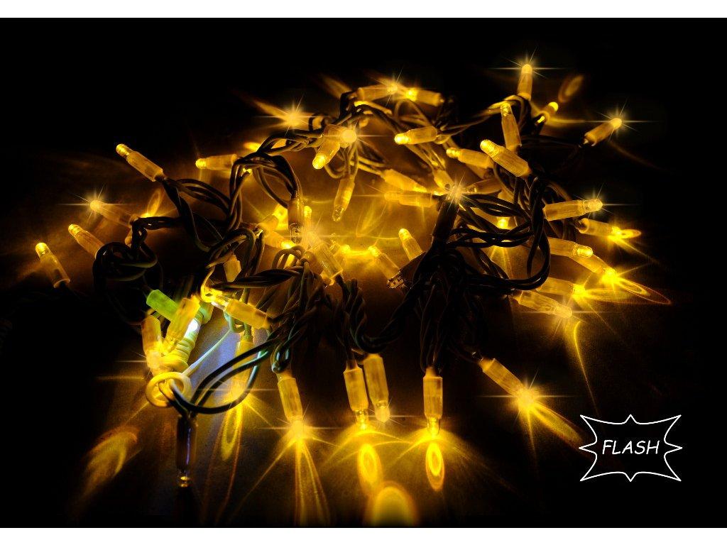 String Lite Flash žltá/žltý kábel 12m 180LED(3x60) 230V 15W