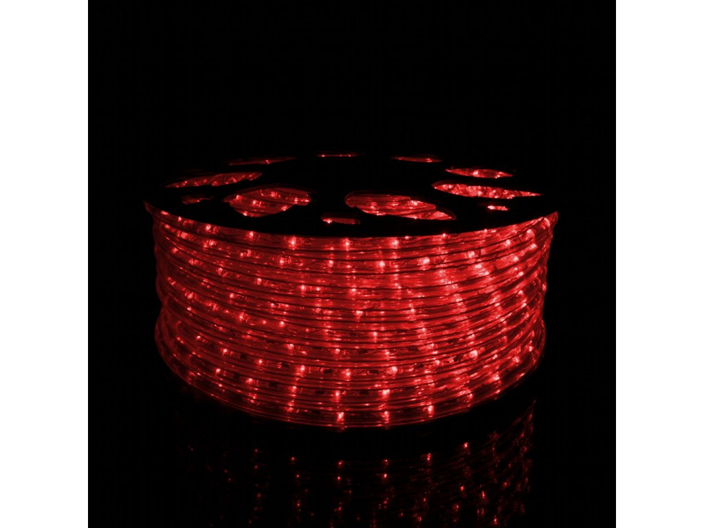 Svetelný had červená 1m 36LED 230V 3,8W