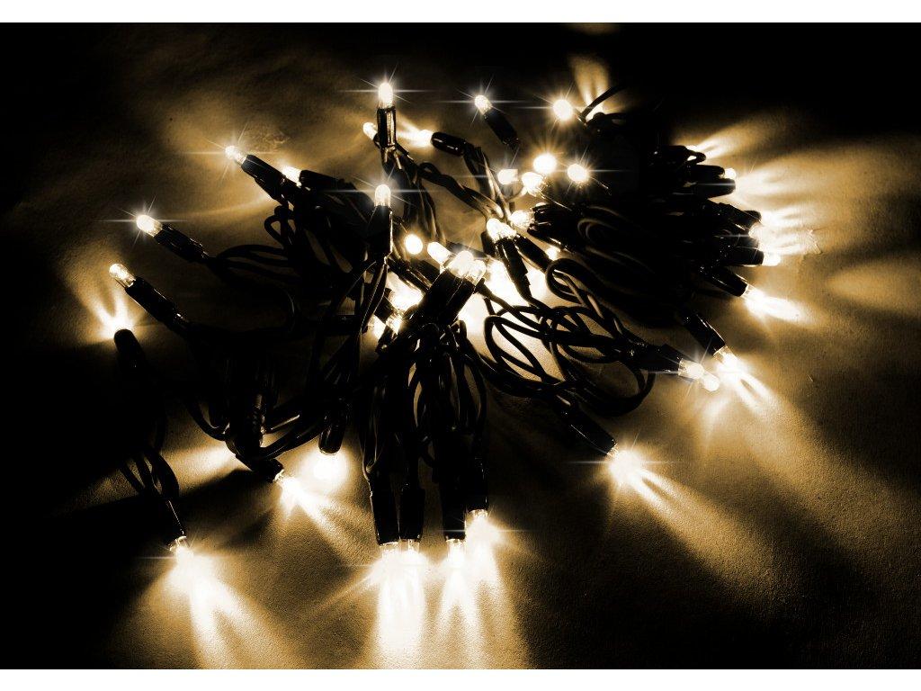 String Lite teplá biela/čierny kábel 24m 360LED(6x60) 230V 30W