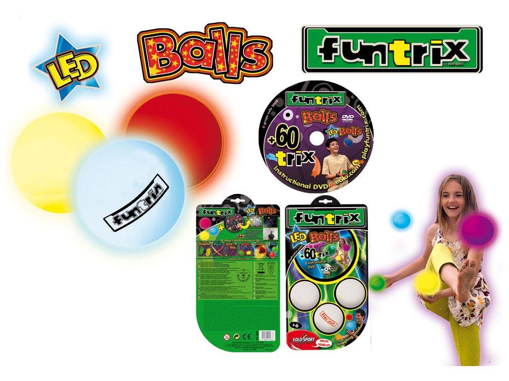 LED Balls - svietiace žonglovacie gule  FX009