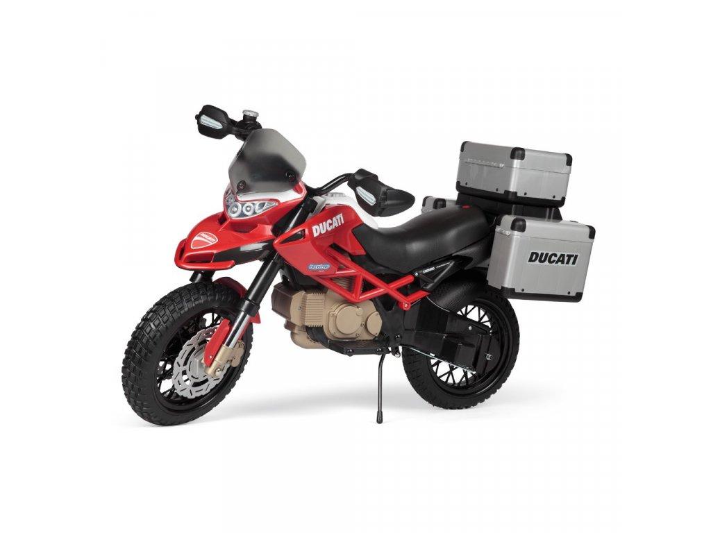 Elektrická motorka PegPerego Ducati Enduro 12V červená