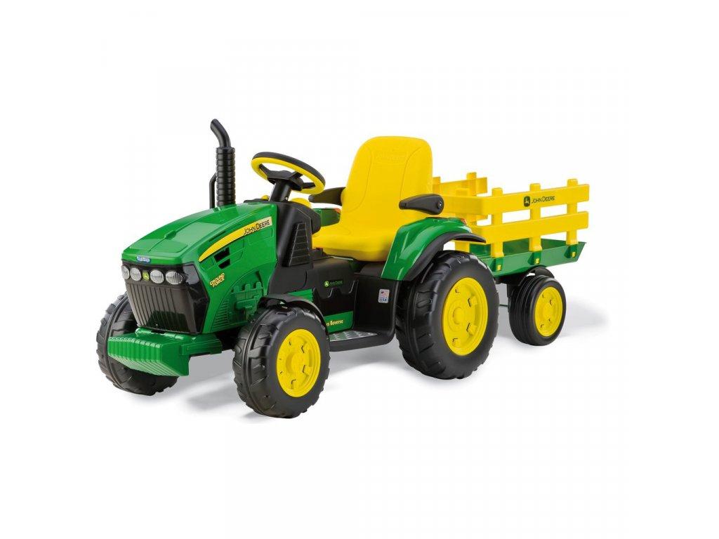 Elektrický traktor PegPerego John Deere Ground Force 12V zelená