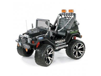 Elektrické autíčko PegPerego Gaucho Superpower 24V čierna