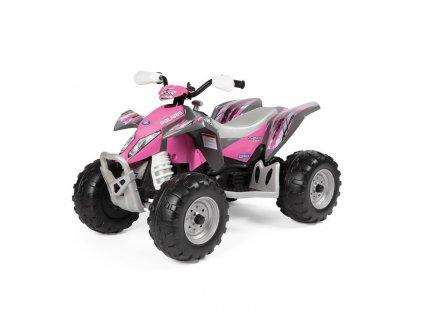 Elektrická štvorkolka PegPerego Polaris Outlaw pink power 12V ružová