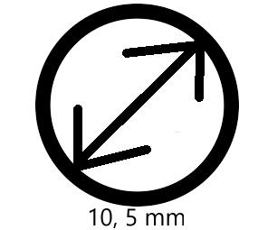 10,5mm